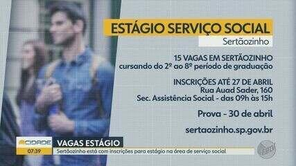 Sertãozinho está com inscrições para estágio em serviço social