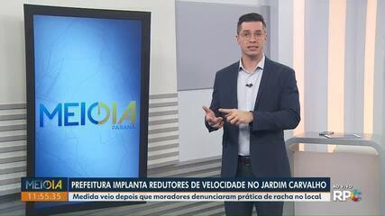 Prefeitura implanta redutores de velocidade no Jardim Carvalho