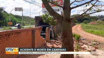 Motorista morre após bater carro em muro na Avenida Ruy Rodrigues, em Campinas