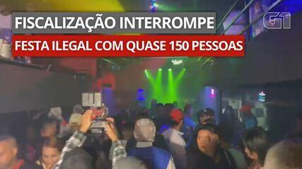 VÍDEO: Fiscalização interrompe festa ilegal com quase 150 pessoas na Zona Sul de SP