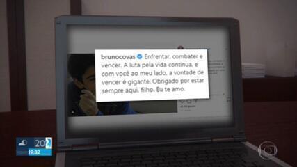 Prefeito Bruno Covas reage bem à drenagem de líquido dos pulmões