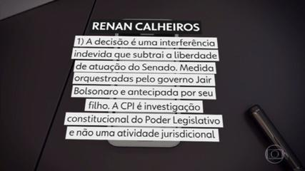 CPI da Covid: liminar da Justiça Federal suspende indicação de Renan Calheiros para relator