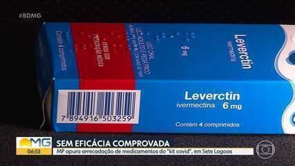"""MP apura arrecadação de medicamentos do """"kit covid"""", em Sete Lagoas"""