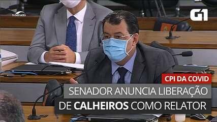 VÍDEO: Senador anuncia decisão que libera Calheiros para ocupar relatoria da CPI da Covid