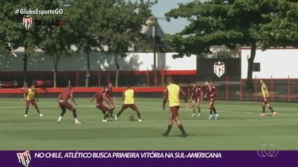 Atlético-GO enfrenta o Palestino, do Chile, em seu segundo jogo fora do Brasil