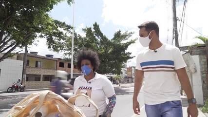 Catadora de reciclados mostra rotina e fala de dificuldades com o trabalho na pandemia