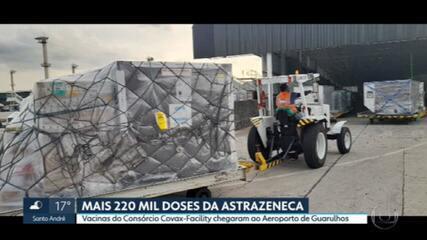 9481366 Lote com mais 1,7 milhão de doses da vacina Oxford/Astrazeneca chega a SP