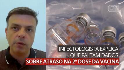 Infectologista explica que faltam dados sobre atraso na segunda dose da vacina da Covid'