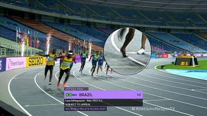 Brasil conquista a prata no 4x100 masculino, mas é desclassificado no Mundial de Revezamentos