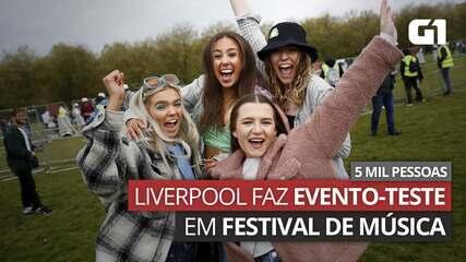 VÍDEO: Liverpool testa festival de música durante pandemia