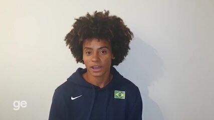 Tiffany Marinho celebra prata do 4x400m misto no Mundial de Revezamentos