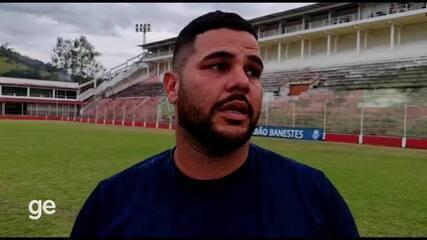 Técnico Fellipi Marques fala da classificação do Vilavelhense (imagens: Reginaldo Monteiro/Jovem Barra FM)