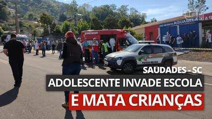 VÍDEO: Jovem invade escola e mata crianças em Saudade, SC