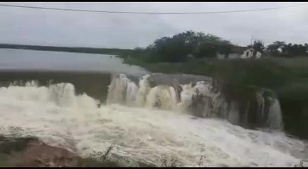Vídeo mostra sangria de açudes após chuvas no Oeste potiguar