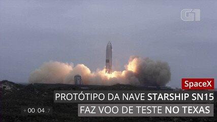 SpaceX lança e pousa com sucesso novo protótipo da Starship SN15