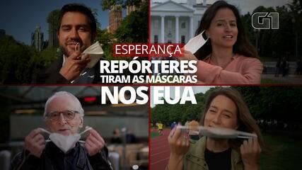 VÍDEO: A emoção de repórteres nos EUA ao tirarem as máscaras ao vivo