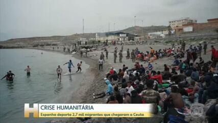 Disputa diplomática entre Espanha e Marrocos provoca crise humanitária em Ceuta