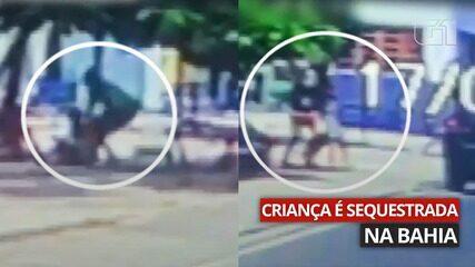 Imagem mostra sequestro de menino de 9 anos em Miguel Calmon