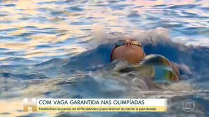 Nadadora supera dificuldades para treinar na pandemia