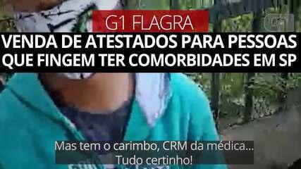 G1 flagra venda de atestados para pessoas que fingem ter comorbidades no Centro de SP
