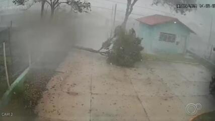 Chuva de granizo assusta cidades da região de Sorocaba