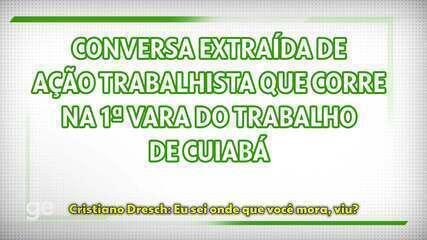 Conversa entre vice-presidente do Cuiabá, Cristiano Dresch, e o zagueiro Luiz Gustavo