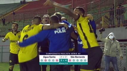 Melhores momentos: Água Santa 2 (3) x (4) 2 São Bernardo pela final do Campeonato Paulista Série A2