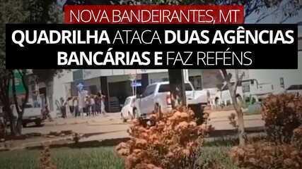 Assalto na modalidade Novo Cangaço tem reféns em Nova Bandeirantes