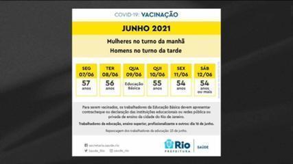 Prefeitura do RJ antecipa calendário de vacinação por idade