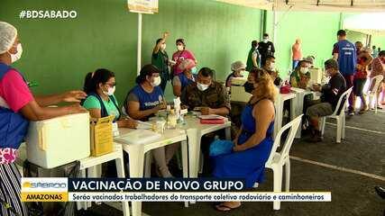 Em Manaus, trabalhadores do transporte rodoviário e caminhoneiros começam a ser vacinados