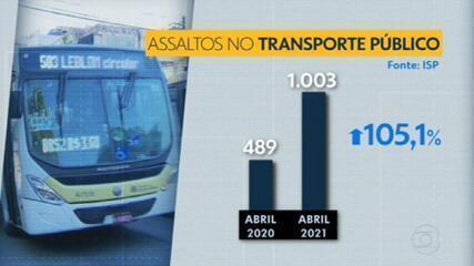 Roubos dentro do transporte público dobra em 1 ano no Rio