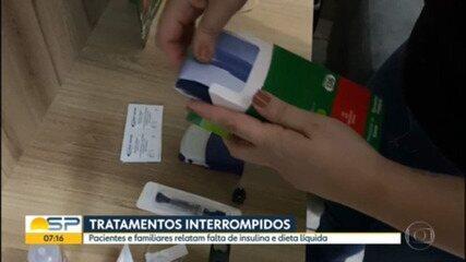 Pacientes relatam falta de insulina e dieta líquida em farmácias de alto custo de SP