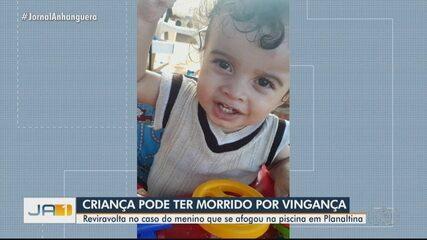 Menino que se afogou em piscina pode ter sido morto por vingança, em Planaltina de Goiás