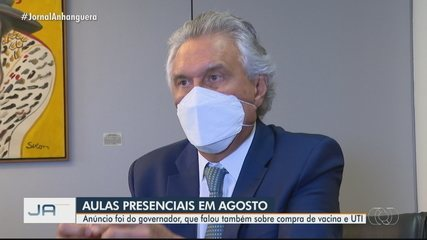 Governador espera que aulas presenciais voltem em agosto, em Goiás