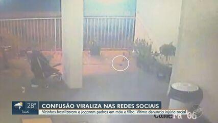 Vizinhos hostilizam e jogam pedras em mãe e filha no Jardim Botafogo, em Campinas