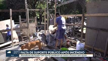 Comunidade na Zaki Narchi segue sem apoio da Prefeitura de SP duas semanas após incêndio, dizem moradores