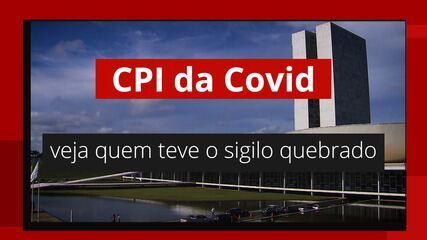 VÍDEO: Veja quem teve o sigilo quebrado pela CPI da Covid