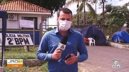 Dois quartéis da PM em Ji-Paraná e um em Jaru foram fechados durante protesto