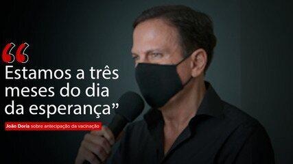 VÍDEO: João Doria antecipa vacinação contra Covid-19 em SP