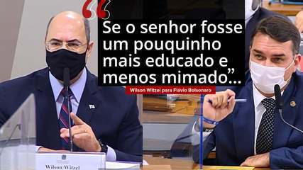 VÍDEO: Witzel diz que não se sente intimidado com presença de Flávio Bolsonaro na CPI