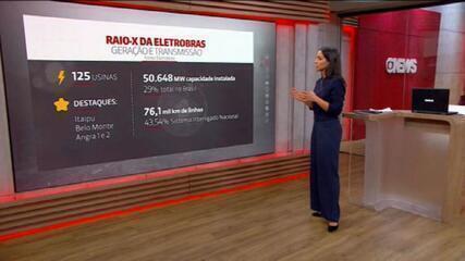 VÍDEO: Eletrobras possui 125 usinas e valor de mercado superior a R$ 68 bilhões