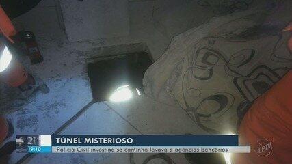 Túnel descoberto em prédio já pode ter chegado a debaixo de bancos, acredita polícia