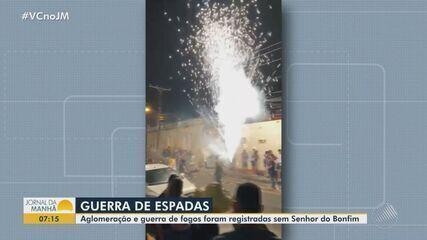 Aglomeração e guerra de espada é registrada na cidade de Senhor do Bonfim