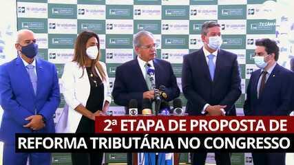 VÍDEO: Guedes entrega 2ª etapa de proposta de reforma tributária ao Congresso