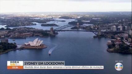 Sydney decreta lockdown para tentar frear avanço da variante delta
