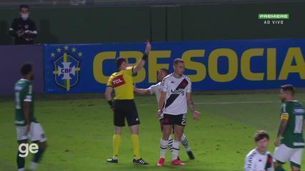 Aos 5 min do 1º tempo - cartão vermelho de Bruno Gomes do Vasco contra o Goiás