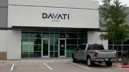 Equipe do JN vai até a sede da Davati, no Texas, mas não encontra nenhum funcionário