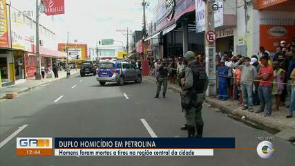 Dois homens são mortos a tiros no centro de Petrolina