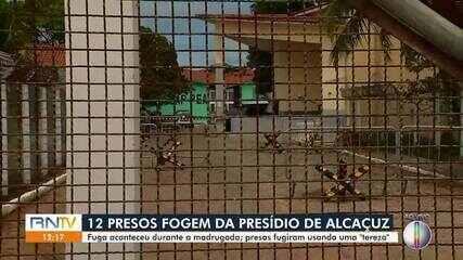 12 presos fogem da Penitenciaria de Alcaçuz