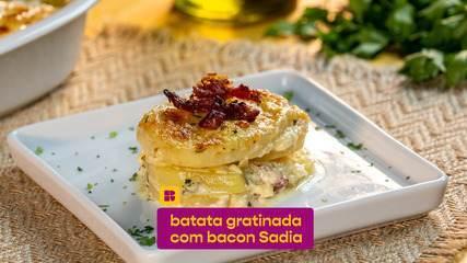 Batata gratinada com bacon: veja como fazer